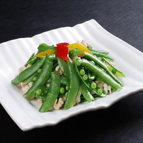 健康的豌豆炒肉沫