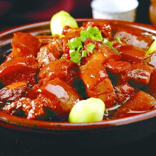 红薯粉条烧五花肉
