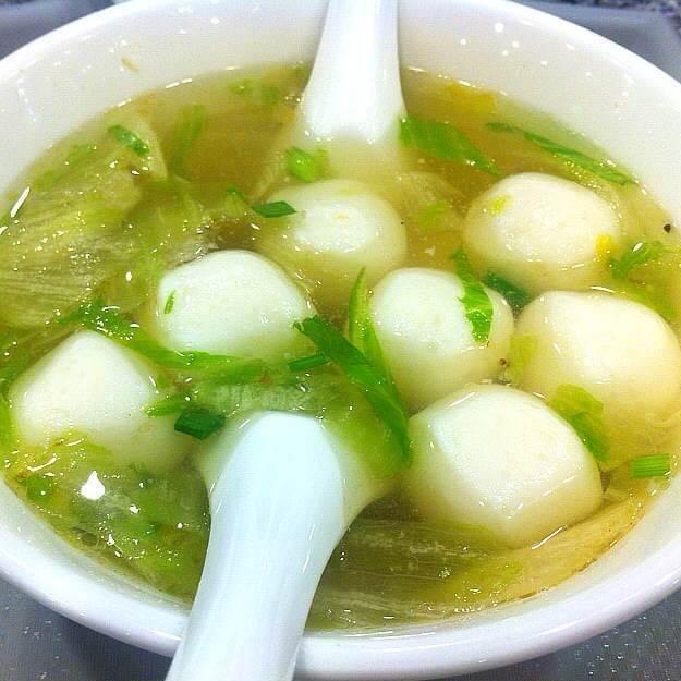 马兰头鱼丸汤