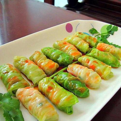 美味的萝卜鱼卷