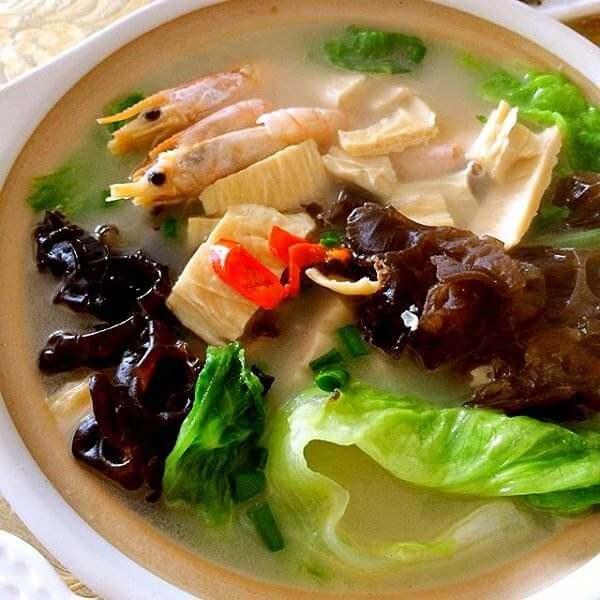 银丝三鲜汤