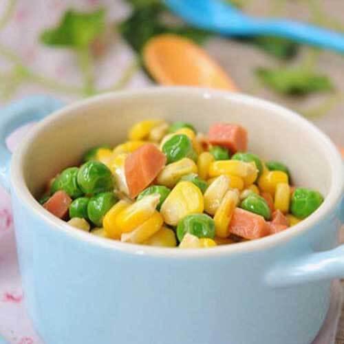 豆角煮火腿长玉米
