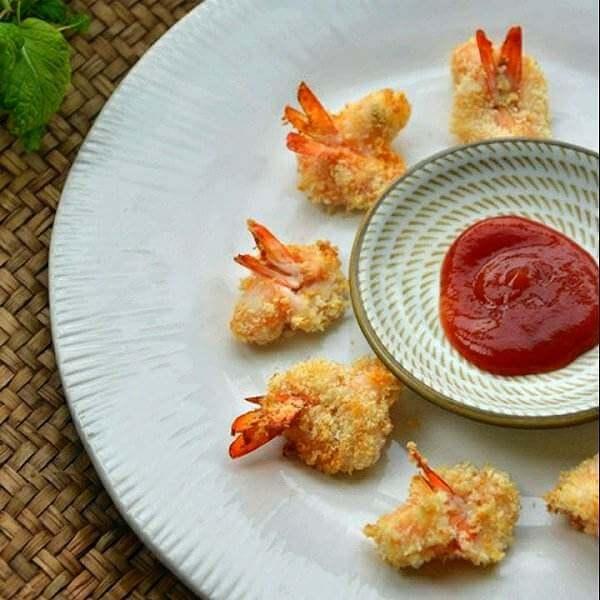 海苔芝麻香酥虾
