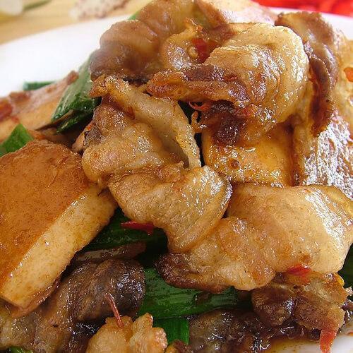 蒜薹炒回锅肉