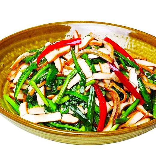 韭菜虾皮炒香干