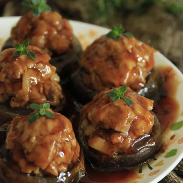 好吃的香菇夹心肉丸