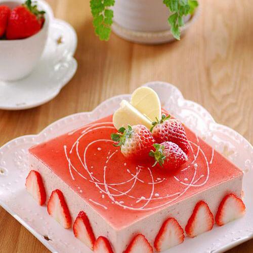 草莓冻芝士