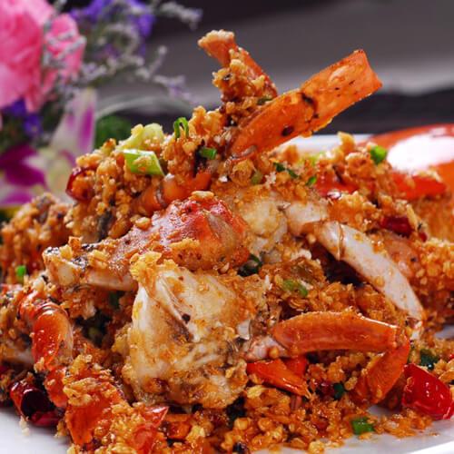 葱香粉丝炒蟹