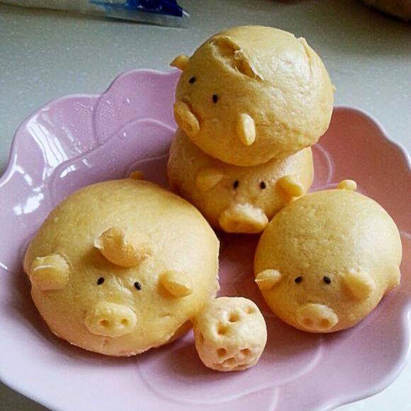 小猪仔豆沙包