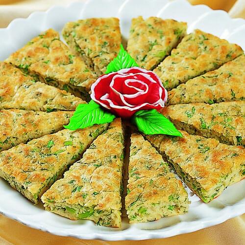 蒜香茼蒿饼