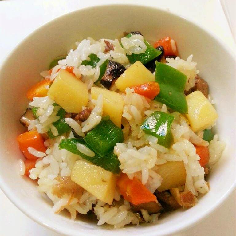 茄汁蘑菇烩饭
