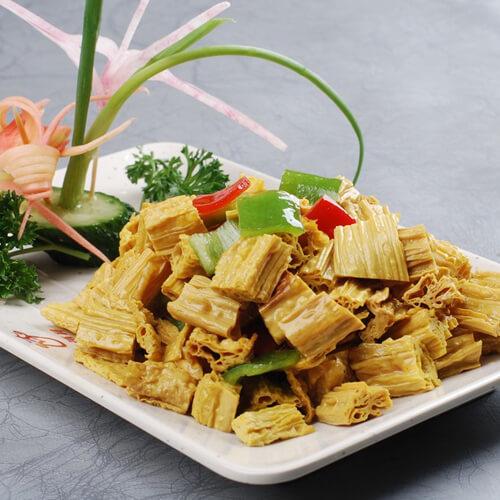 四季豆炒腐竹