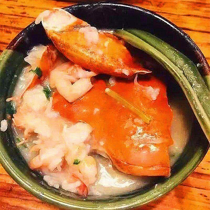 虾肥蟹黄砂锅粥