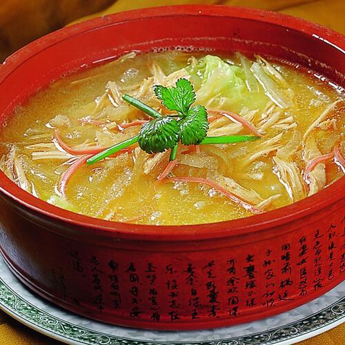 豌豆尖儿响皮汤