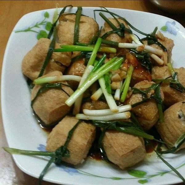 豆豉青瓜炒油豆腐