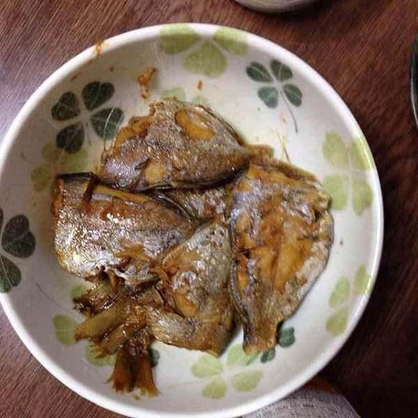 好吃的蒜子红烧小鲳鱼