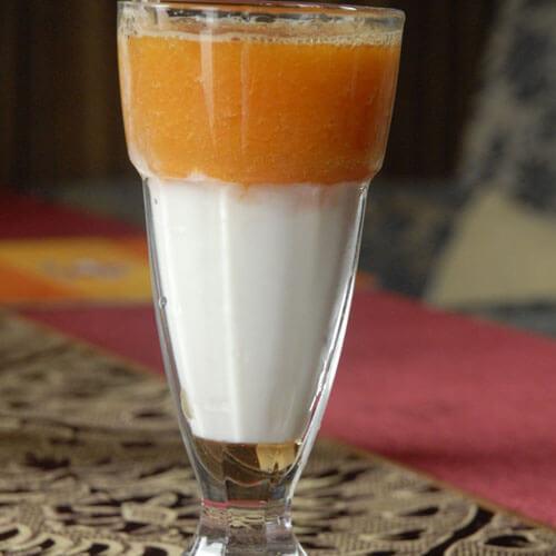 雪蛤木瓜牛奶