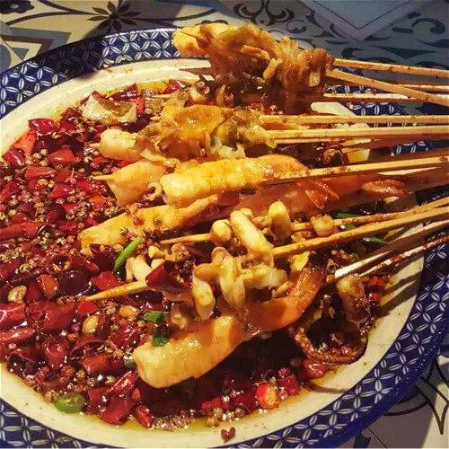 好吃的苔条芋艿串