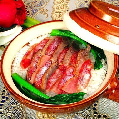 美味的腊肉豆角粉丝煲