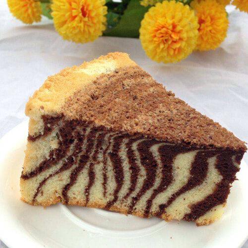 8寸斑马纹戚风蛋糕