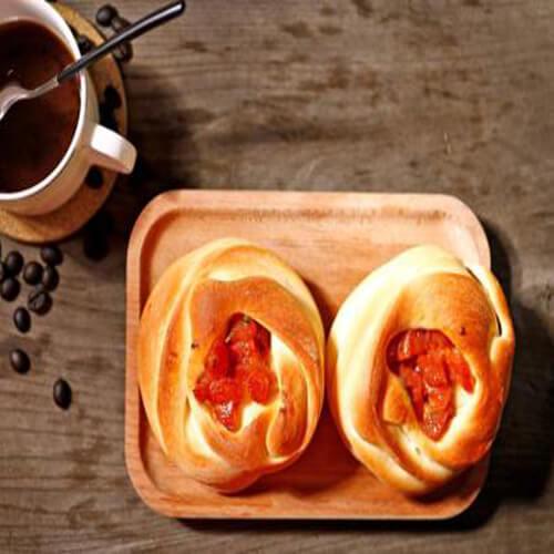 炼奶花卷面包