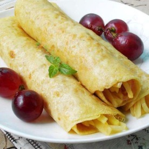 鸡蛋卷土豆丝