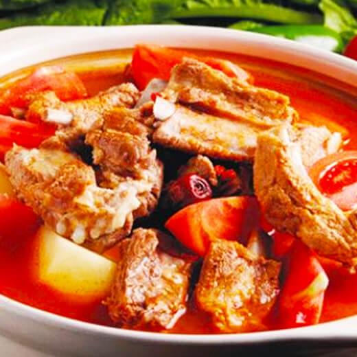 番茄排骨牛腩火锅