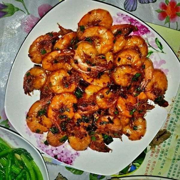 葱香蒜蓉虾