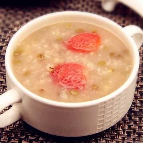 绿豆草莓粥