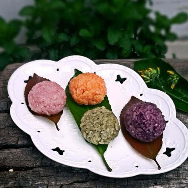 彩色糯米芝麻团
