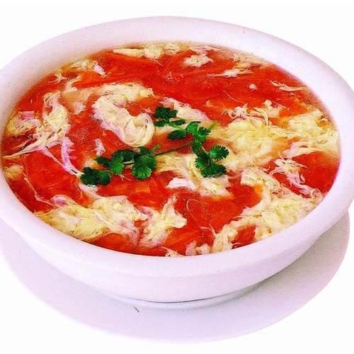 鸡蛋西红柿拌汤
