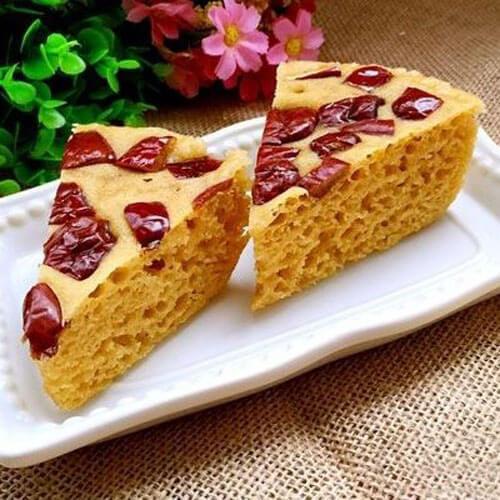 红枣玉米发糕---不经意间成就的美食