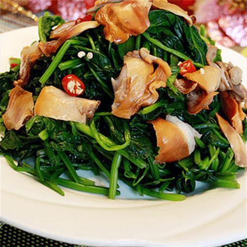 菠菜拌毛蚶