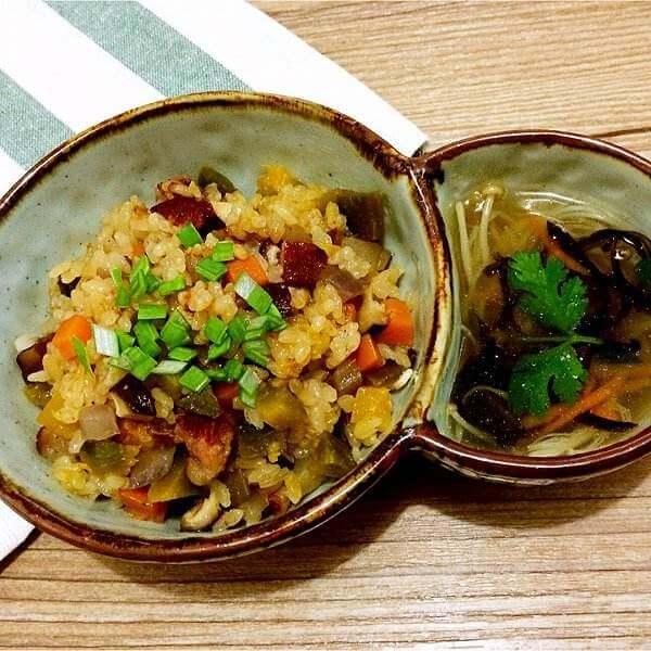 腊味白萝卜焖米饭
