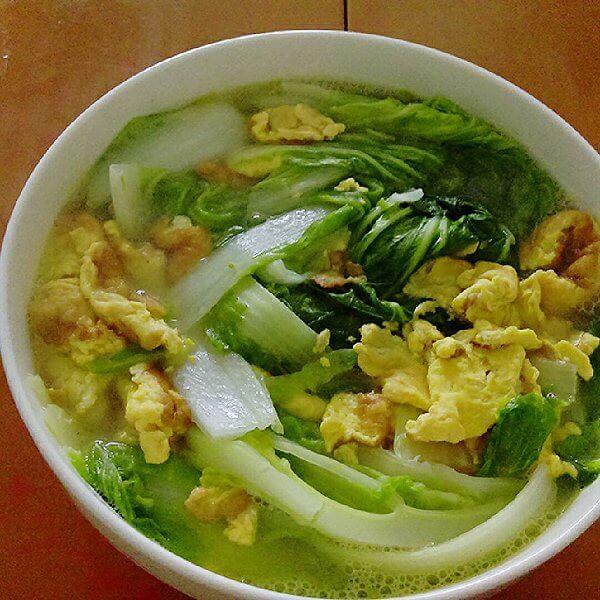 白菜蛋皮汤