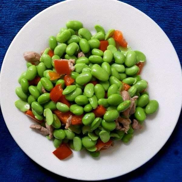 黄瓜香干炒肉丁
