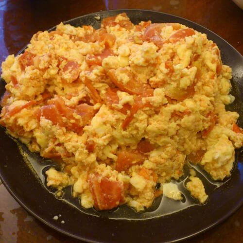 番茄炒蛋的升级版 鲜虾奶油番茄炒蛋