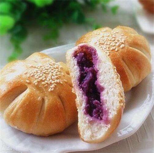 简简单单紫薯面包