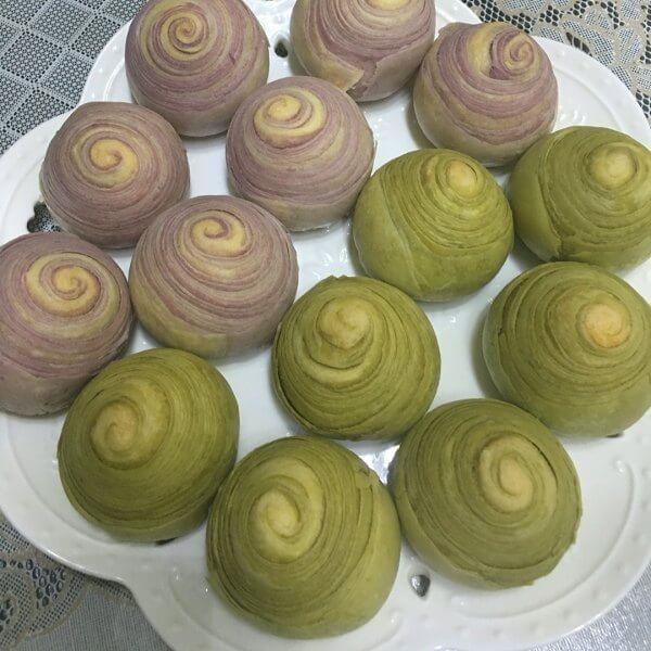 抹茶酥皮饼