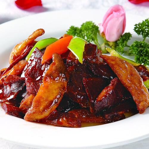 香辣花菜炒牛肉