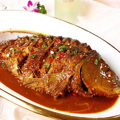 冻豆腐烧鱼