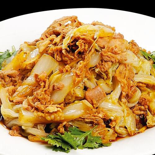 白菜帮炒肉