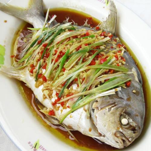 清淡的清蒸金鲳鱼
