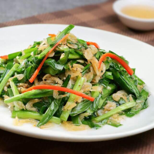 韭菜黄拌海米