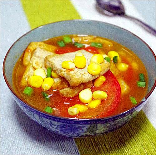 西红柿豆腐果汤