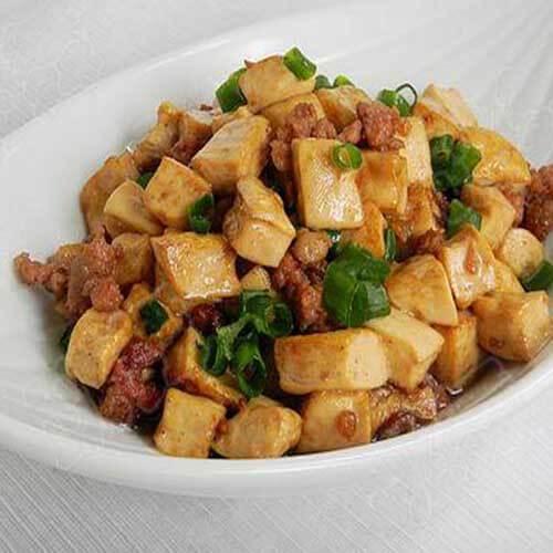 肉末酱蘸豆腐
