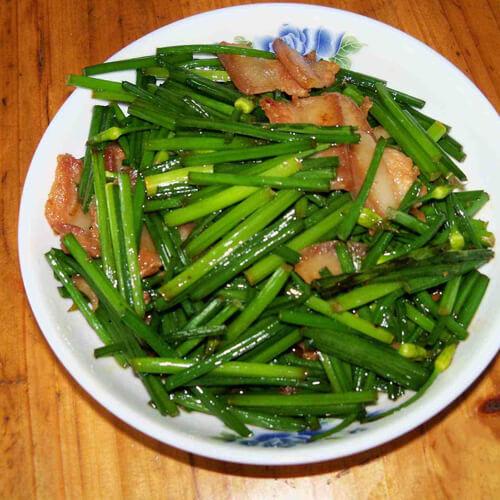 最爱的韭菜炒猪头肉
