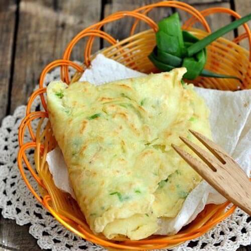 韭菜虾皮煎饼