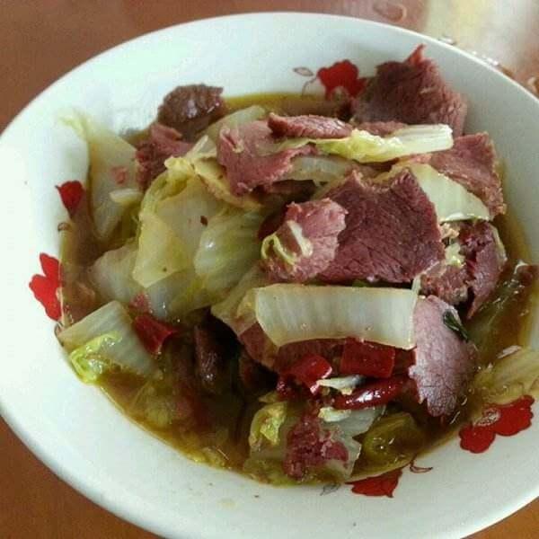 【健康美食】烩肉炖白菜