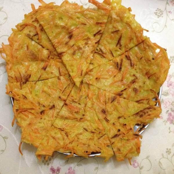 胡萝卜面糊饼